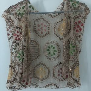 Sequin vest from Anthropologie